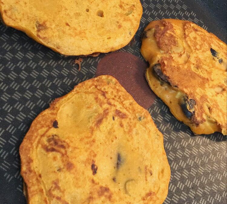 Pancakes salés thon / olives